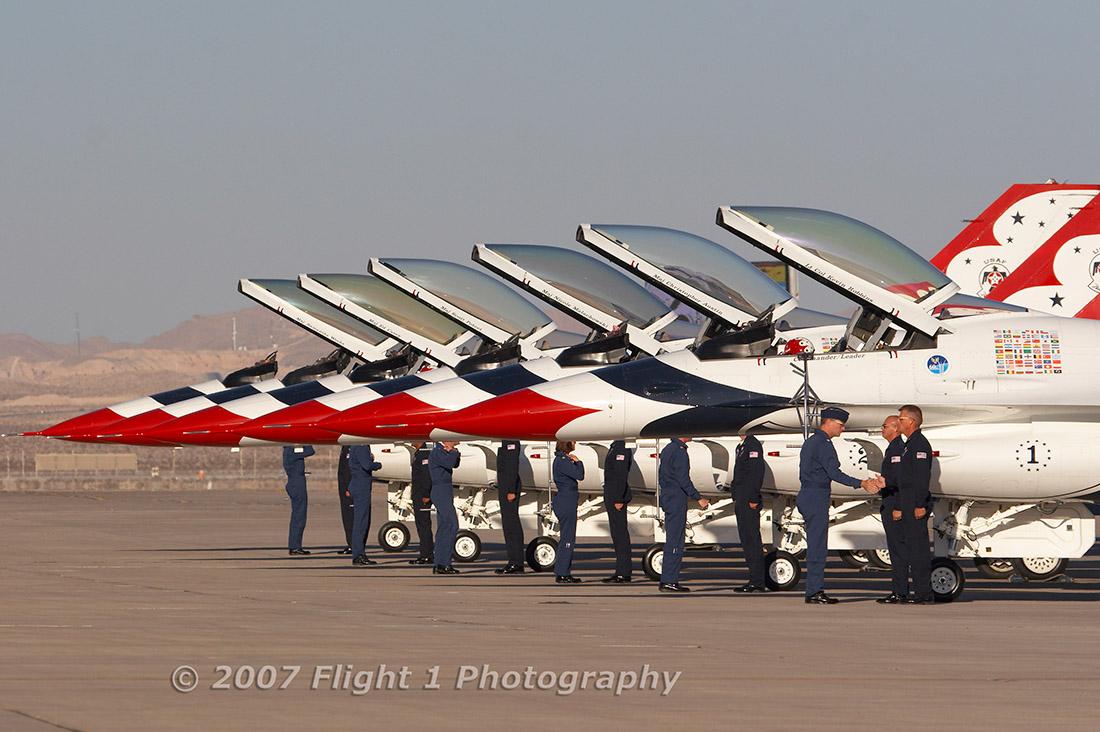 USAF Thunderbirds pre-show
