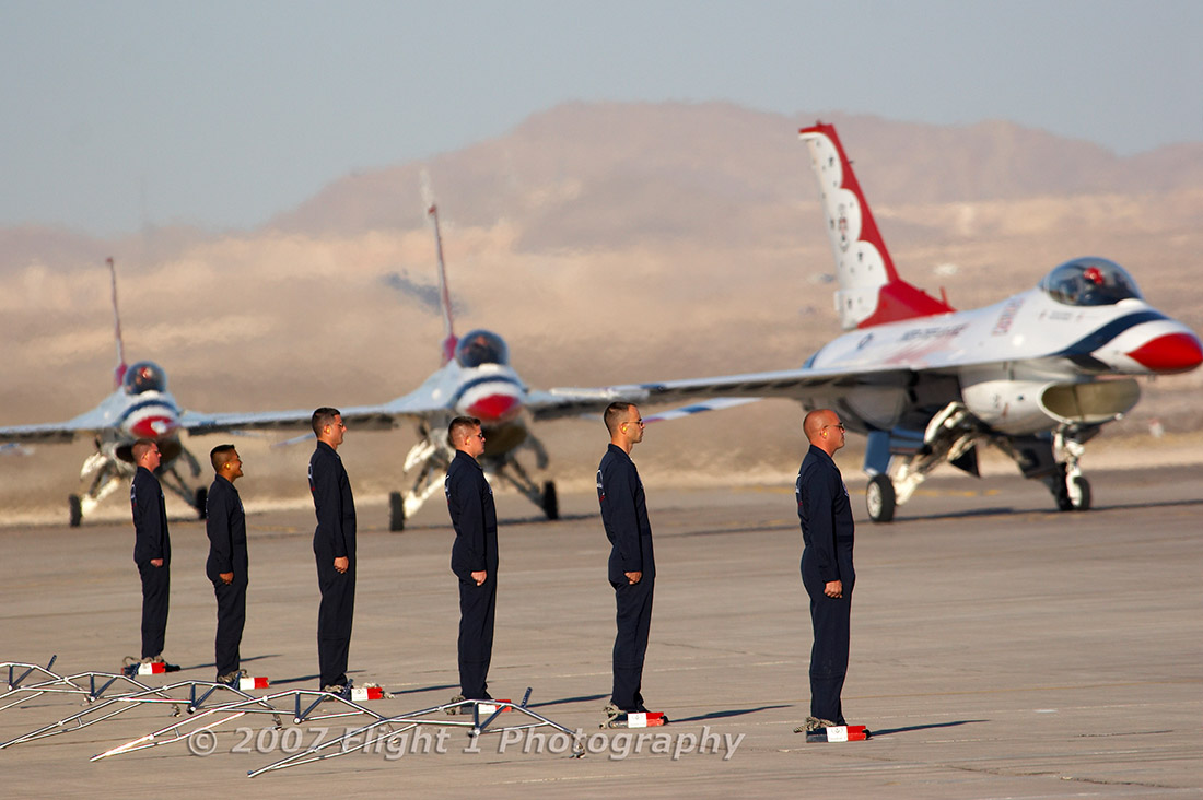 The Thunderbirds taxi in Cath the completion of their show.
