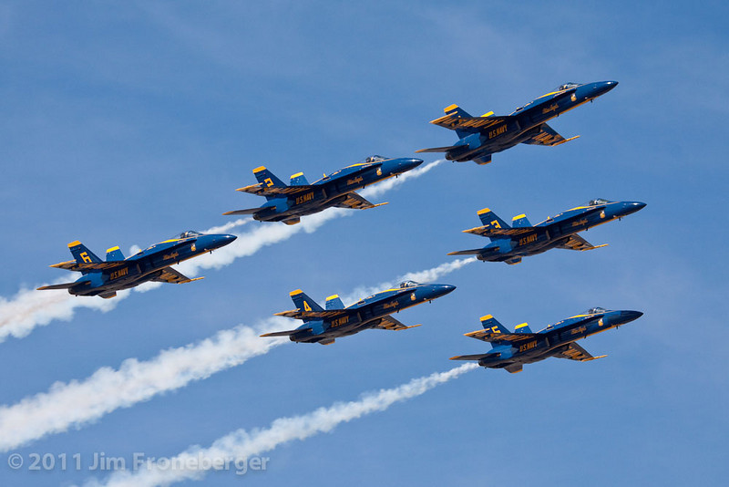 The Blue Angels Delta formation