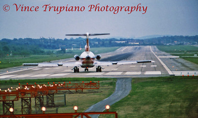 TWA B-727 departing runway 10L at Pittsburgh International Airport.