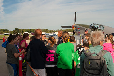 Dr. Harold Brown and students at the Liberty Aviation Museum in Port Clinton, Ohio.
