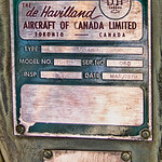 de Havilland Buffalo manufacturer's plate