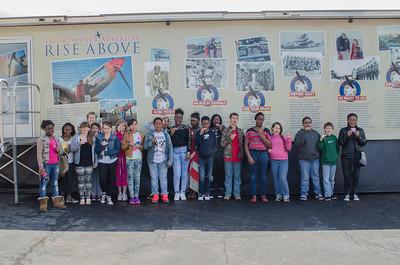 Students at Beaver County Airport