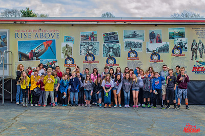 6th graders visit the Air Heritage Museum and the CAF Red Tail Squadron RISE ABOVE exhibit