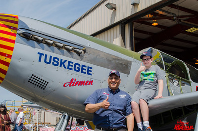 We had lots of help cleaning the airplane.  Here's Bill with one of the youngest.