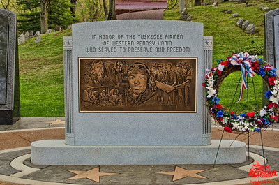 The Tuskegee Airmen memorial at Sewickley Cemetery near Pittsburgh.