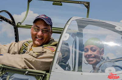 Carla Williams, who's Great Uncle Carl James Woods was an Airman, went for a ride with Bill Shepard and enjoyed the experience.