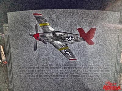 Tuskegee Airmen Memorial at  Sewickley Cemetery in Pennsylvania.  A very familiar aircraft.