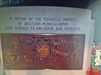 Memorial to the Tuskegee Airmen of Western Pennsylvania located at the Sewickley Cemetary.