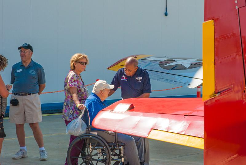 Dr. Brown speaks with a veteran.