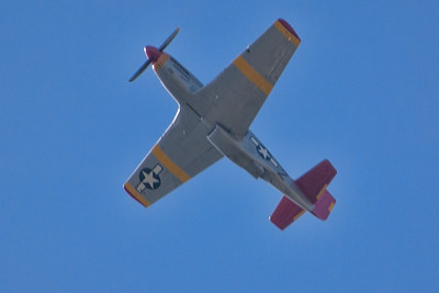 P-51C over Liberty Aviation Museum