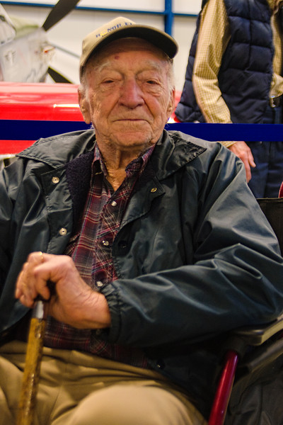 B-24 pilot Melvin Shafer at the Liberty Aviation Museum