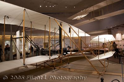 The first airplane, the 1903 Wright Flyer