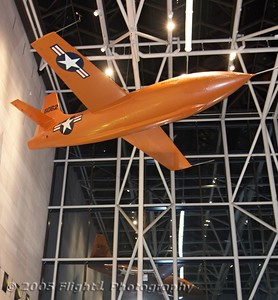 Bell X-1 reflected in the glass