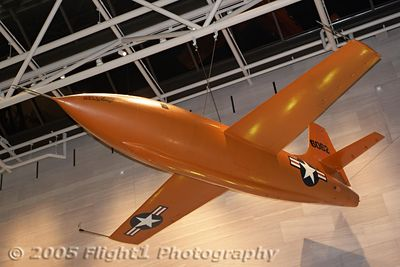 "Chuck Yeager's X-1 ""Glamorus Glennis"", the first plane to break Mach 1"