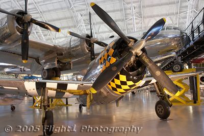 "P-47 Thunderbolt and B-29 ""Enola Gay"""