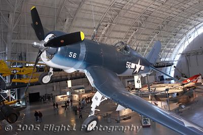 F-4U Corsair with more modern Naval Aircraft in the background