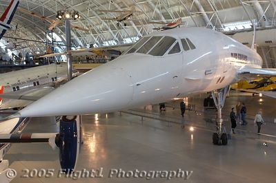 Air France Concorde nose view