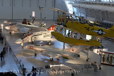 F-4 Phantom, A6 Intruder, X-35B, Mig-21, and  Boeing Stearman on floats