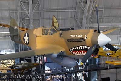 P-40 Kittyhawk, painted to represent an aircraft of the 75th Fighter Squadron, 23rd Fighter Group, 14th Air Force.