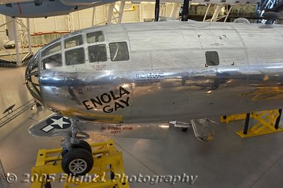 "The ""Enola Gay"" the plane to carry the first atomic bomb that was dropped on Hiroshima in 1945"