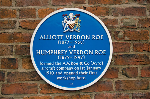 Avro Blue Plaque