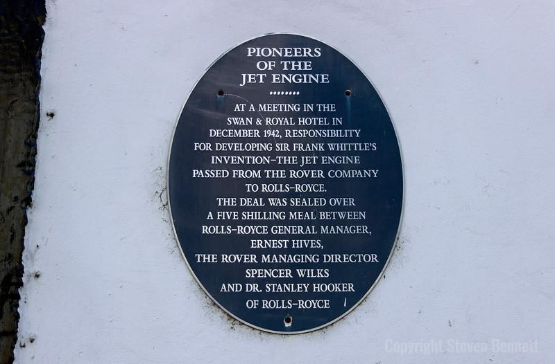 Pioneers Of The Jet Engine Plaque