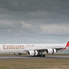Emirates A340-541 arriving in Sydney, Australia.  Photo by Stephen Hindley