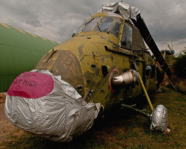 A rather sad and derelict Westland Wessex at Tangmere Aviation Museum in the UK