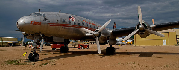 This Lockheed Constellation, at Pima Air & Space Museum in Tucson, AZ, probably hasn't flown in decades but it's still an impressive bird.