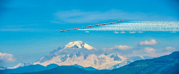 Snowbirds with Mt. Baker