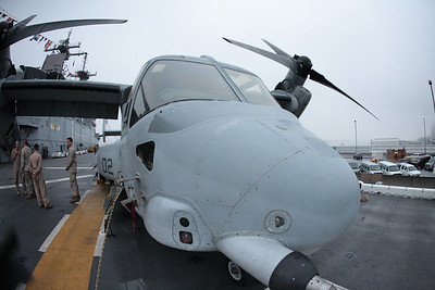 V-22 Osprey aboard the USS Wasp.