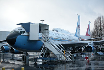 The original 707 that served as Air Force One.