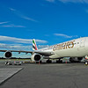 Emirates A340-541 in Christchurch, New Zealand.  Photo by Stephen Hindley
