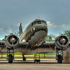 Douglas DC-3 Dakota starting up