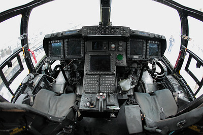Cockpit of V-22 Osprey.