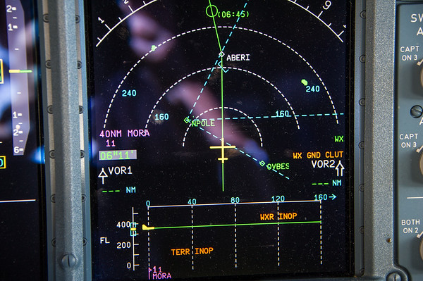 Passing the North Pole enroute to San Fransisco.  Photo by: Stephen Hindley©