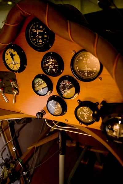 Instrument cluster on the VE-7 Bluebird<br /> <br /> The Vought VE-7 Bluebird was an early biplane of the United States. First flying in 1917, it was designed as a two-seat trainer for the United States Army, then adopted by the United States Navy as its very first fighter aircraft. In 1922, a VE-7 became the first plane to take off from an American aircraft carrier.
