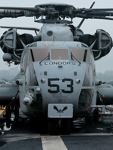 CH-53E Super Stallion aboard the USS Wasp.