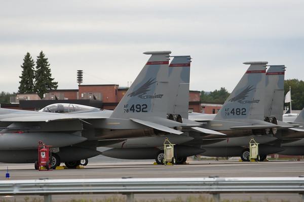 """Barnes Airport """"Oregon"""" F-15's 10/4/10"""