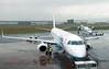Flybe Embraer ERJ-195LR G-FBEJ & Bombardier Dash 8-400 G-JECP, George Best Belfast City Airport, 17 May 2012 - 1433