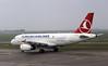 Turkish Airlines Airbus A319 TC-JLS, Nikola Tesla airport, Belgrade, Tues 17 June 2014.