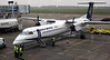 Olympic Air Dash 8 SX-OBA, Nikola Tesla airport, Belgrade, Tues 17 June 2014.