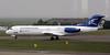 Montenegro Airlines Fokker 100 40-AOP, Nikola Tesla airport, Belgrade, Tues 17 June 2014.