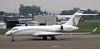 Privately owned Bombardier Challenger 604 M-ANGO, Nikola Tesla airport, Belgrade, Tues 17 June 2014.