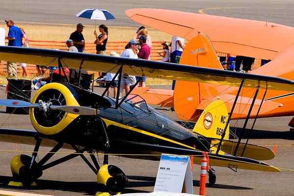 Beautifully restored WACO biplane.