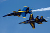 Blue Angels' formation break.