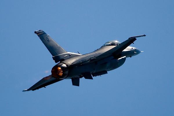 F-16 in afterburner.