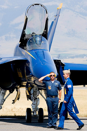 The Blue Angels closed the show.  The thin mountain air did not hamper the Blue Angels from delivering their standard, high-caliber performance—exacting, exhilarating.