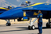 The Blue Angels' F/A-18 Hornets taxi out for their performance.